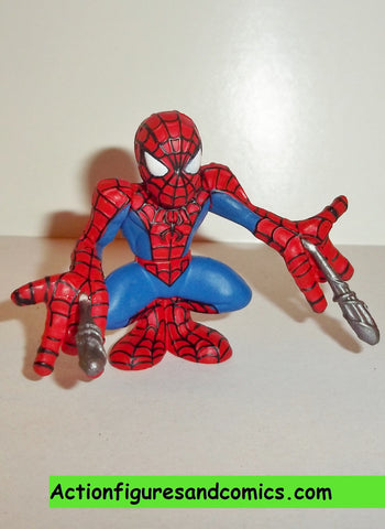 Marvel Super Hero Squad SPIDER-MAN complete red blue shooting silver webs pvc action figures