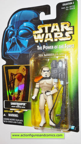 star wars action figures SANDTROOPER green card .02 power of the force 1996 moc