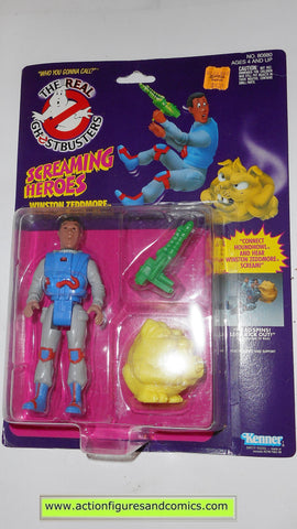 ghostbusters WINSTON ZEDDMORE screaming heroes 1986 the real kenner toys action figures moc mip mib