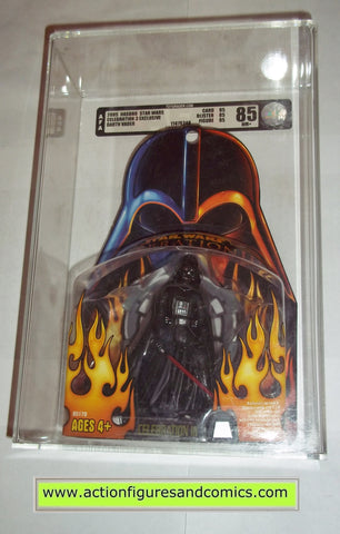 star wars action figures DARTH VADER celebration III AFA GRADED hasbro toys moc mip mib