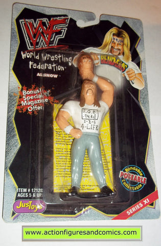 Wrestling WWF action figures AL SNOW bend-ems justoys moc mip mib