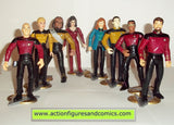 Star Trek ACTION FIGURE complete BRIDGE CREW LOT playmates toys 5 inch