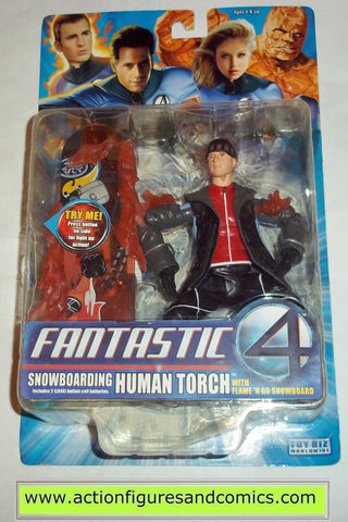 Marvel Legends Fantastic Four HUMAN TORCH SNOWBOARDING movie 2005 4 moc