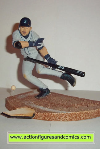 mcfarlane sports action figures ICHIRO SUZUKI 51 variant grey shirt seattle mariners sportspick baseball toys
