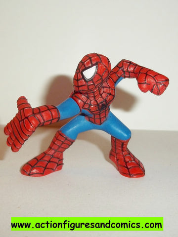 Marvel Super Hero Squad SPIDER-MAN complete light blue suit right palm out pvc action figures