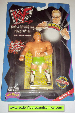 Wrestling WWF action figures B.A. BILLY GUNN GUN bend-ems justoys moc mip mib