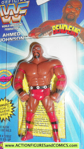Wrestling WWF action figures AHMED JOHNSON 1996 bend-ems justoys moc