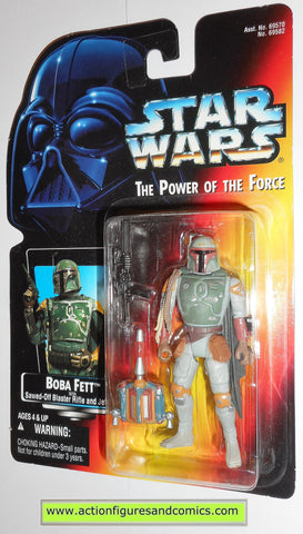 star wars action figures BOBA FETT 1996 .01 red card power of the force moc