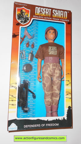 Gi joe vintage retro compatible 12 inch DESERT SHIELD GUNNER 1991 moc mib mib