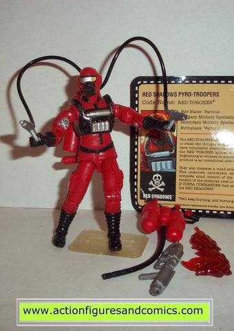 gi joe RED SHADOWS Pyro troopers RED TORCHES 2010 convention exclusive complete Vacation in the shadows
