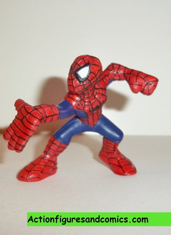 Marvel Super Hero Squad SPIDER-MAN complete dark blue suit right palm out pvc action figures