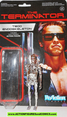 Reaction figures Terminator T800 ENDOSKELETON chrome Arnold Swartzenegger movie funko toys action moc OPEN
