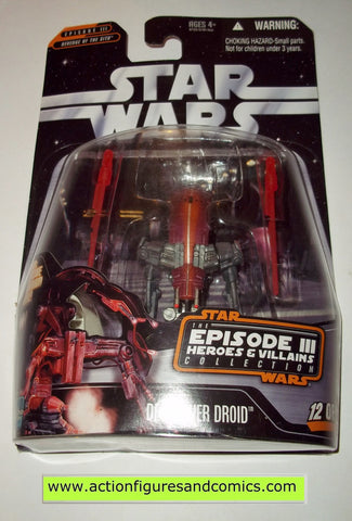 star wars action figures DESTROYER DROID heroes & villains Saga moc mip mib