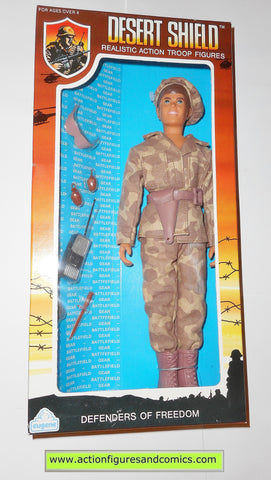 Gi joe vintage retro compatible 12 inch DESERT SHIELD SARGENT 1991 moc mib mib