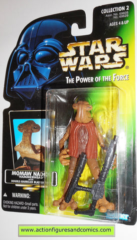 star wars action figures MOMAW NADON HAMMERHEAD photo green card power of the force moc