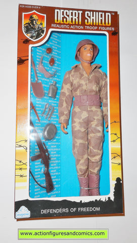 Gi joe vintage retro compatible 12 inch DESERT SHIELD TROOPER 1991 moc mib mib