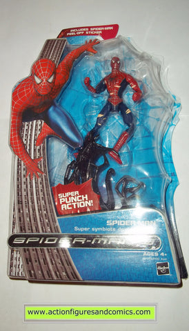 Spider-man movie 3 SUPER SYMBIOTE double punch action marvel legends moc mip mib