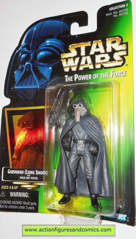 star wars action figures GARINDAN .00 power of the force 1997 hasbro toys moc mip mib