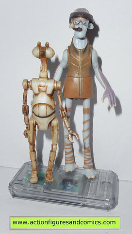 star wars action figures ODY MANDRELL & PIT DROID 1999 episode I 1 complete hasbro toys