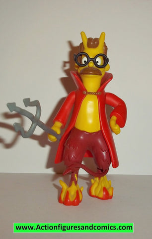 Simpsons NED FLANDERS DEVIL wos action figures complete