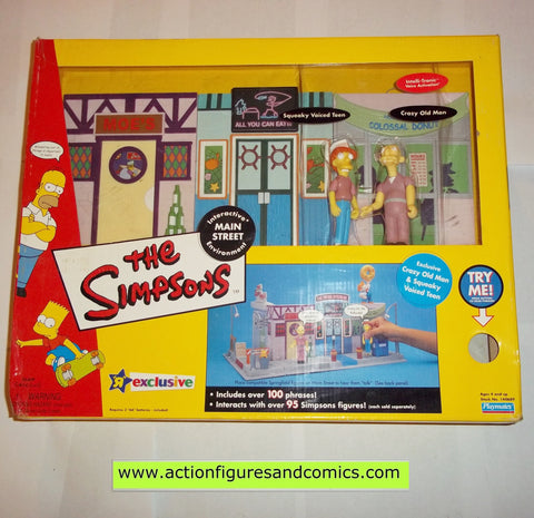 Simpsons action figures MAIN STREET PLAYSET playmates toys mib moc mip