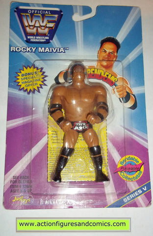 the rock rocky maivia wrestling action figures toys