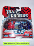 Transformers movie CLIFFJUMPER vs RECON BARRICADE police car legends action figures moc mip mib