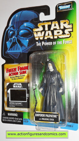 star wars action figures EMPEROR PALPATINE .02 freeze frame power of the force toys moc 000