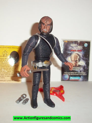 Star Trek WORF starfleet rescue uniform 1994 playmates complete action figures