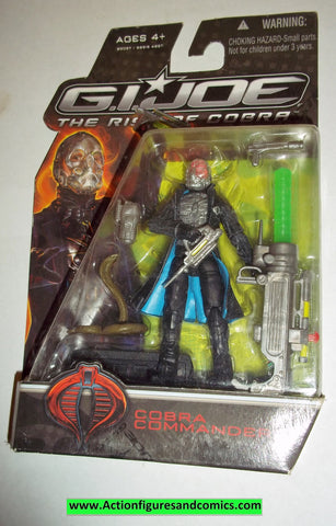 gi joe COBRA COMMANDER 2009 v43 variant chest holes rise of Cobra movie moc