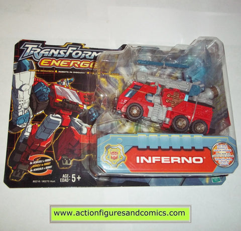 Transformers energon INFERNO firetruck 2003 Hasbro toys action figures moc mip mib