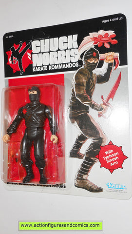 chuck norris karate kommandos NINJA WARRIOR Black 1986 kenner vintage action figures moc mip mib