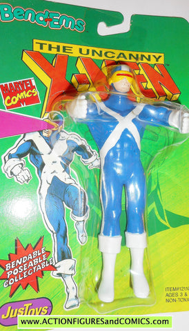 marvel super heroes CYCLOPS X-MEN 1991 bend ems justoys action figures moc