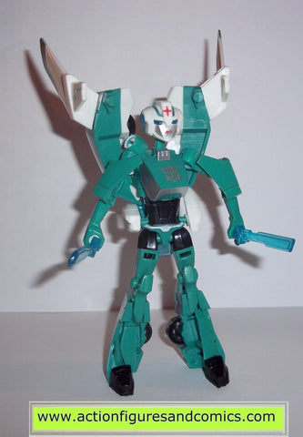 transformers animated ARCEE GREEN PARADRON MEDIC hasbro toys action figures complete deluxe