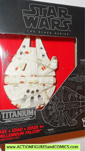 star wars titanium MILLENNIUM FALCON the black series 2015 01 1 moc mib