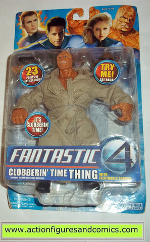 Fantastic Four marvel legends THING CLOBBERIN TIME movie 2005 toy biz action figures 4