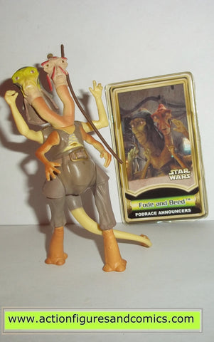 star wars action figures FODE & BEED podrace announcer 2000 power of the jedi action figures hasbro toys
