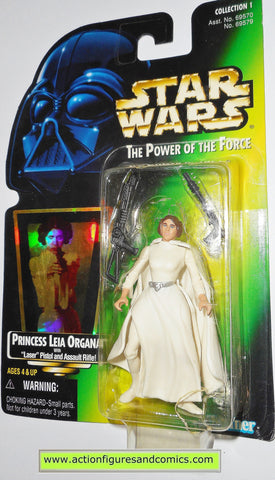 star wars action figures PRINCESS LEIA ORGANA green card .01 power of the force toys moc