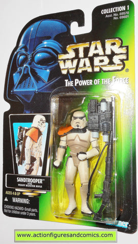 star wars action figures SANDTROOPER power of the force hasbro toys moc