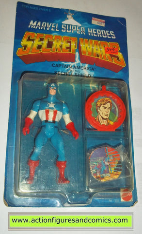 secret wars CAPTAIN AMERICA 1984 mattel toys moc bubble lifted action figures marvel super heroes spider-man 1985 #4344