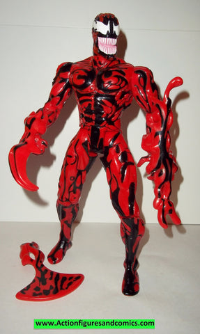 marvel universe 10 inch CARNAGE spider-man animated series complete toy biz action figures