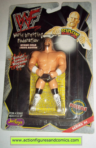 Wrestling WWF action figures STONE COLD STEVE AUSTIN bend-ems justoys moc mip mib