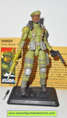 gi joe STALKER 2010 v12 resolute 25th anniversary complete with file card