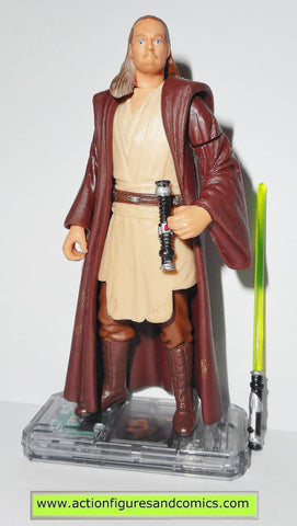 star wars action figures QUI GON JINN naboo 1999 episode I 1 complete hasbro toys