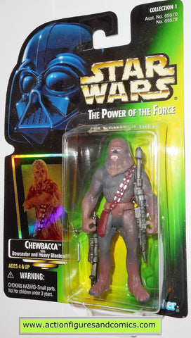 star wars action figures CHEWBACCA green card .01 power of the force hasbro toys moc