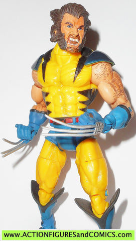 Marvel Legends WOLVERINE yellow suit unmasked 2004 x-men gift set fig