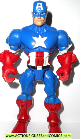 Marvel Super Hero Mashers CAPTAIN AMERICA 6.5 inch universe 2013 action figure FIG