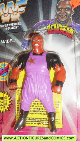 Wrestling WWF action figures MABEL 1995 bend-ems justoys moc
