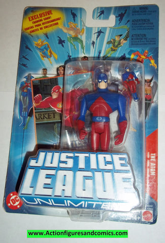 justice league unlimited ATOM moc mip mib 2004 2005 dc universe jlu dcu mattel new