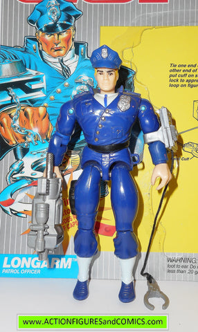 Cops 'n Crooks LONGARM 1988 FULL CARD hasbro action figures c.o.p.s